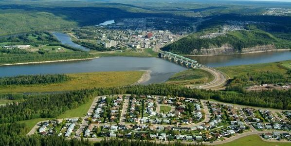 Fort McMurray, looking south from Thickwood.