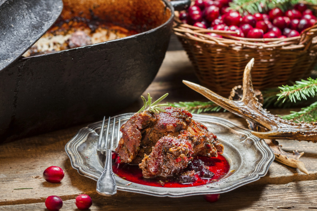 Enjoying the Harvest: Venison with Cranberries!